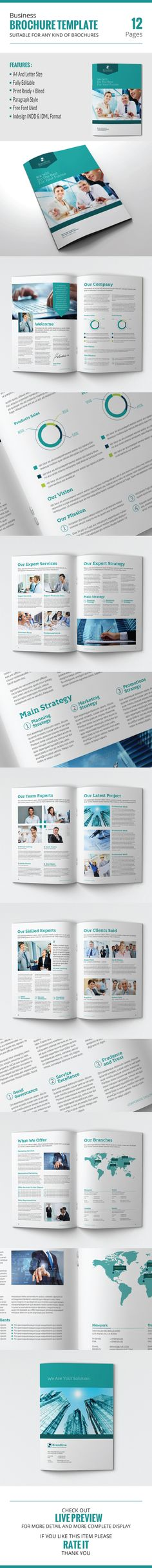 This is 12 pages  Clean, elegant, modern and professional corporate business brochure template. Suitable for any kind of businesses, corporate and can be also used for any other publishing like annual report and company profile. You will get the file in Indd and idml InDesign format. It is fully editable ,customizable and easy to work with. This brochure can serve multipurposes