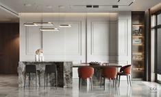 Apartment Interior Design, Interior Design Studio, Living Room Interior, Modern Interior Design, Kitchen Interior, Kitchen Design, Neoclassical Interior, Classic Interior, Luxury Decor