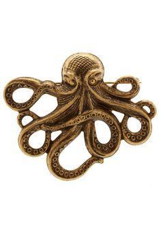 Thomas's Inspiration - Octopus Brooch