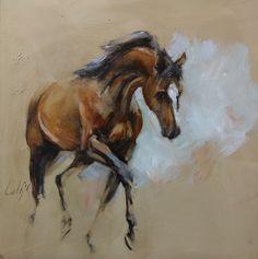 Oil sketch on panel 230217 Diamanto  v. Johnson x Don Primaire x Ferro / Cath Driessen