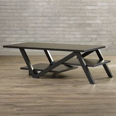 Found it at Wayfair - Clifford Coffee Table Welded Furniture, Industrial Design Furniture, Iron Furniture, Steel Furniture, Rustic Furniture, Table Furniture, Furniture Design, Geometric Furniture, Furniture Buyers