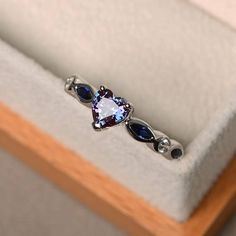 Alexandrite wedding ring alexandrite ring heart cut