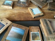 In the process of making ... #abstract seascape photo wood blocks ...unique and one-of-a-kind . Handmade  with beautiful reclaimed Pine  driftwood and Sea Groynes . Link in my Insta profile