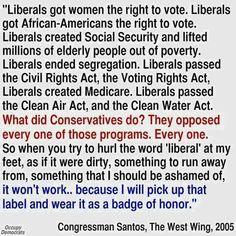 """I don't believe in labels, but """"Liberal"""" is one worth wearing."""