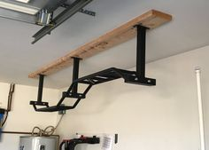 Building a Budget Home Gym from Titan Fitness Dream Home Gym, Diy Home Gym, Garage Pull Up Bar, Bar Image, Muscle Up, Bars For Home, Ceiling Lights, Building, Training Workouts