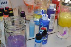 Making galaxy bottles.