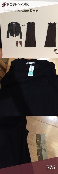 Rd style Pamela swing sweater dress Black sleeveless swing style sweater dress  r d style Dresses Midi