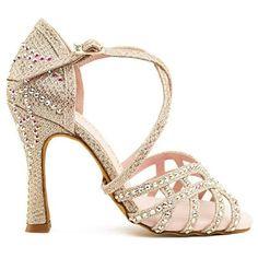 92221f97e Manuel Reina - Zapatos de Baile Latino Mujer Salsa Flex 12 Champagne