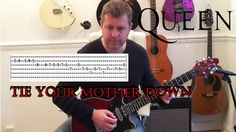 How To Play Queen - Tie Your Mother Down - Guitar Tutorial Learn Guitar Chords, Guitar Tabs, Guitar Youtube, Guitar Tutorial, Guitar Lessons, Drugs, Queen, Tie, Play