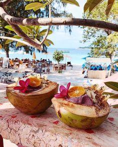 _________________________ Beautiful beach front oasis If you seek the essence of Bali beachfront tropical luxury, th. Bali Travel Guide, Travel Tours, Voyage Bali, Gili Trawangan, Coffee Photos, Beach Villa, Smoothie Bowl, Holiday Destinations, Luxury Travel