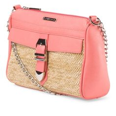 RAMPAGE CROSSBODY Gorgeous Coral CROSSBODY from rampage. New with tags.    10in W x 8in H 46in strap, fully extended zip closure, buckle detail interior organizational pockets, 1 front pocket non leather Rampage Bags Crossbody Bags