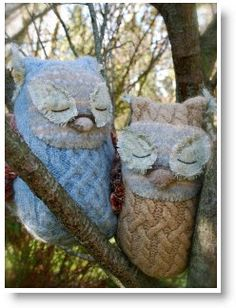 Felted wool sweater owl tutorial- ode to Malinda and her love for Owls :)