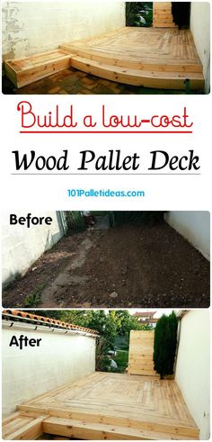Build a low-cost Wood Pallet Deck - Easy Pallet Ideas