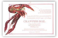 11 Best Crawfish Boil Invitations Images Crawfish Party Party