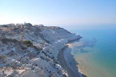 La playa de los Acantilados Blancos en Sicilia  Incluida por la Unesco como Patrimonio de la Humanidad