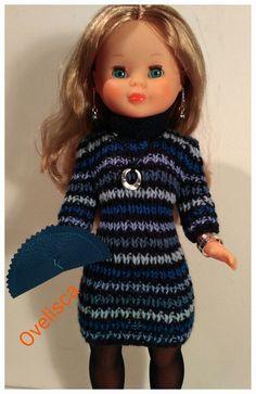 Barbie Clothes, Barbie Dolls, Nancy Doll, American Girl, Knitting, Pattern, Dresses, Hearts, Fashion