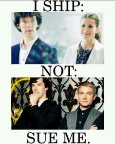 I dont ship johnlock, i believe two people can be good friends without a romantic aspect