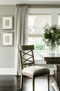 art + window treatments + palette | ML Interior Design