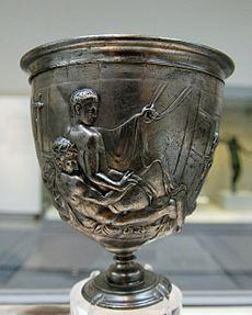 La copa Warren es un recipiente de plata que representa el imperio romana, se la encuentra en el museo Británico Copa Warren - Wikipedia, la enciclopedia libre https://es.wikipedia.org/wiki/Copa_Warren (8/10/2016) 19:40