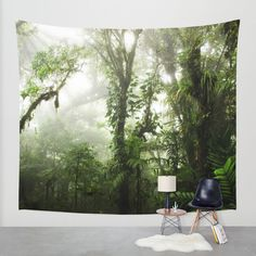 Cloud Forest Wall Tapestry by Nicklas Gustafsson | Society6 #rainforest #jungle #nature #forest #costarica #tapestry #walltapestry #homedecor