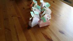 Doosjes gemaakt met de stampin up envelope punchmaker