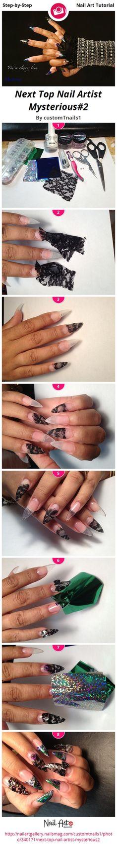 Next Top Nail Artist Mysterious#2 by customTnails1 - Nail Art Gallery Step-by-Step Tutorials nailartgallery.nailsmag.com by Nails Magazine www.nailsmag.com #nailart
