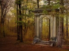 "Stone doorway stands alone in the middle of a forest .""Forest Portal"", Italy photo via paimpont Gates, Murals Your Way, Autumn Photography, Poetry Photography, Heart Photography, Portrait Photography, Travel Photography, Wedding Photography, Fall Photos"
