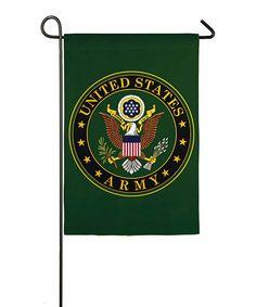 Loving this Evergreen Army Sueded Garden Flag on #zulily! #zulilyfinds