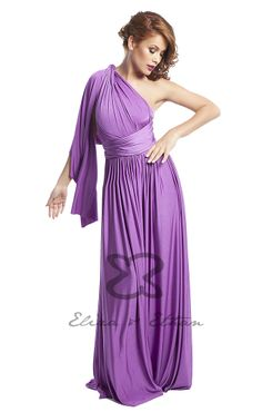 Eliza and Ethan - Multiway - Infinity -  Bridesmaids Dresses - OneSize - Maxi MultiWrap Dress Color: Orchid