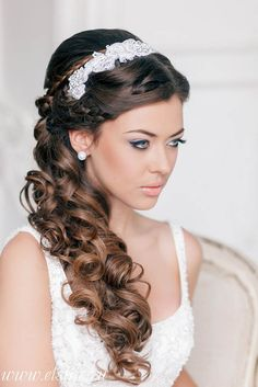 Stunning Half Up Half Down Wedding Hairstyles ❤ See more: http://www.weddingforward.com/half-up-half-down-wedding-hairstyles-ideas/ #weddings