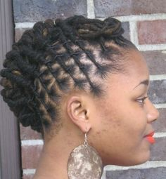 Twisted Loc Updo   Black Women Natural Hairstyles