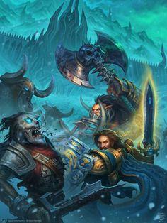 Icecrown Citadel - Bolvar Fordragon & Dranosh Saurfang World of Warcraft Chronicle by Konstantin Turovec Warcraft Heroes, Art Warcraft, World Of Warcraft Movie, Blizzard Warcraft, Dc Comics, Captain Marvel Shazam, Death Knight, Heroes Of The Storm, Wow Art