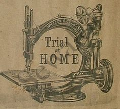 he Willcox & Gibbs machines were available on free trial