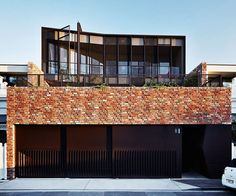 A former mechanic's warehouse once stood on the site the house now occupies. The warehouse's lack of structural integrity meant it needed to be completely demolished. In its place, and inspired by its former life, Stephen and his team built a new dwelling with industrial bones. The clinker bricks create a graphic impact.