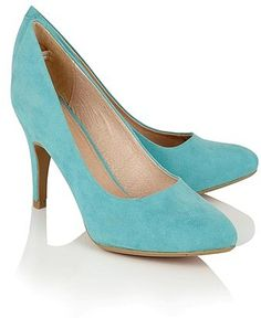 30d40ad69c Womens aqua lotus heeled court shoes from Lipsy - £45 at  ClothingByColour.com