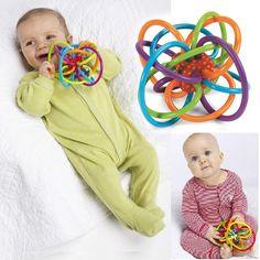 0-12 Meses Bebé de Juguete Bebé Bola Sonajeros para Desarrollar la Inteligencia Del Bebé Juguetes Del Bebé Campana De Mano De Plástico Sonajero WJ266