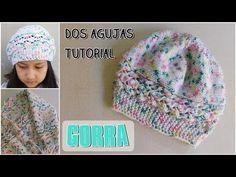 Como tejer un gorro para niña y adultos en dos agujas, palitos - YouTube Bonnet Crochet, Knit Crochet, Crochet Hats, Health Promotion, Knitting Projects, Knitted Hats, Liliana Milka, Model, Youtube