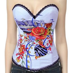 Sexy White Corset #wholesale #corset #lingeriefirst.com