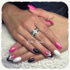 Pink schwarz weiß