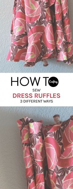 Learn how to sew ruffled dresses with this easy to follow tutorial.