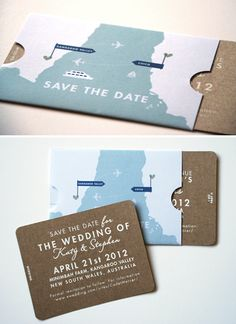 travel themed wedding idea