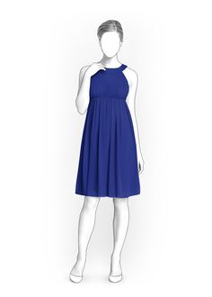 Dress - Sewing Pattern #5900. Made-to-measure sewing pattern from Lekala with free online download.
