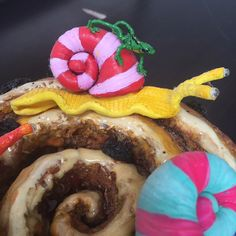Polymer Clay, Cinnamon Bun and Snails, Contemporary Art by Victoria Raymond Assemblage Art, Snails, Cinnamon, Contemporary Art, Polymer Clay, Creatures, Victoria, Food, Canela