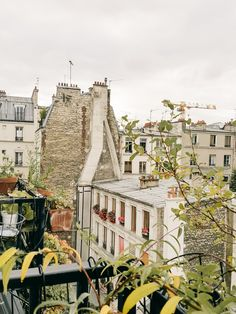 the view from our balcony in paris