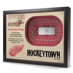 Detroit Red Wings StadiumView Wall Art - Joe Louis Arena