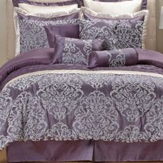 Anastasia Purple Comforter Sets - Bed Bath & Beyond ...