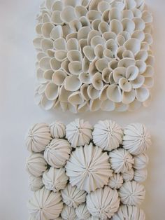 Sea Fan Clay Wall Tile  something like this could work well in wood, if you used a plunge router