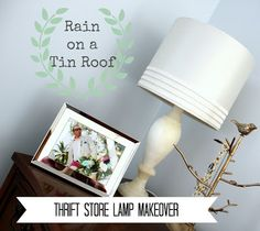 Thrifted Lamp Makeover {rainonatinroof.com} #lamp #makeover #thrift blog resourc, magic, lampshades, picmonkey, photo pinworthi, marbles, overlays, lamp makeov, banners