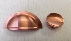 The Oxford cup pull and cabinet knob, in a matching Satin Brushed Copper finish for a contemporary look and feel for kitchen cabinet doors and drawers Copper Handles Kitchen, Kitchen Cabinets Handles And Knobs, Kitchen Knobs And Pulls, Cupboard Knobs, Kitchen Hardware, Kitchen Cabinet Doors, Black And Copper Bedroom, Black And Copper Kitchen, Cooper Kitchen