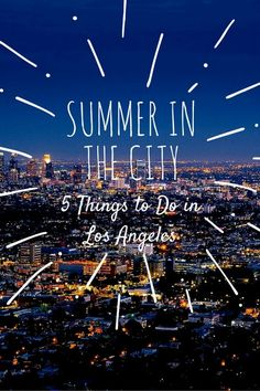 Summer in the City: